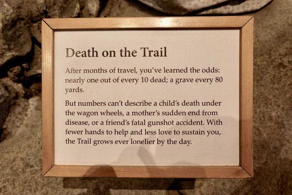Der Tod reist mit auf dem Oregon Trail