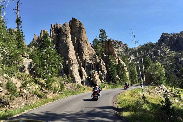 Fahrstrecke legendären Needles Highway Black Hills