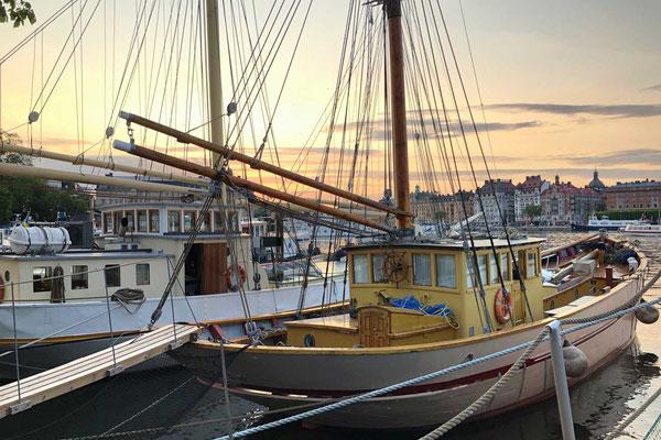 Schiffsveteranen auf Skeppsholmen Stockholm