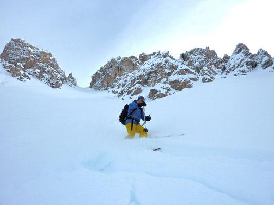 Skitouren Villgratental - 1000m Abfahrt der Skitour im Pragsertal, Dolomiten