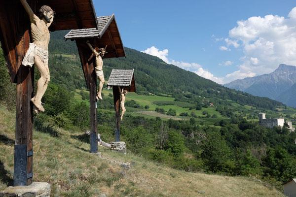 Kreuzigungsgruppe auf dem Kalvarienberg von Schluderns
