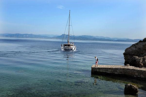 Einladende Bucht am Hera Heiligtum, Peloponnes