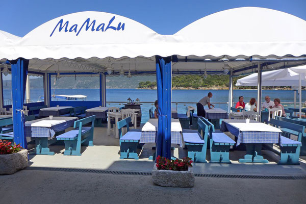 Mamalu Top Fischrestaurant in Valun