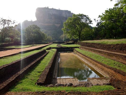 Sigiriya königlicher Lustgarten Sri Lanka