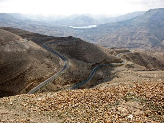 King's Highway bei Wadi Mujib, Jordanien