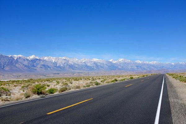 Anfahrt Lone Pine mit Sierra Nevada