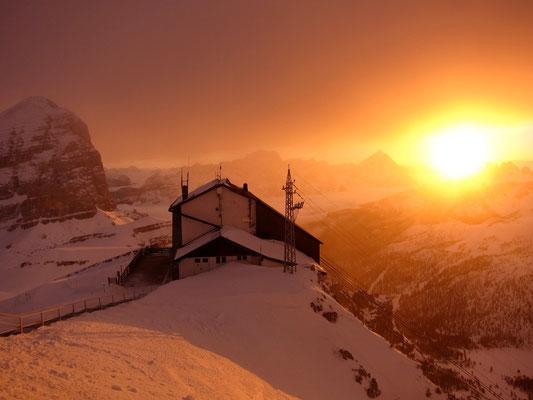 Bergstation bei Rifugio Lagazuoi, Dolomiten Südtirol