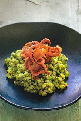 Die neue griechische Küche Calamari Risotto ohne Reis