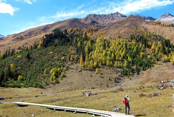 Wandern im Shuangqiao Valley, Mount Siguniang
