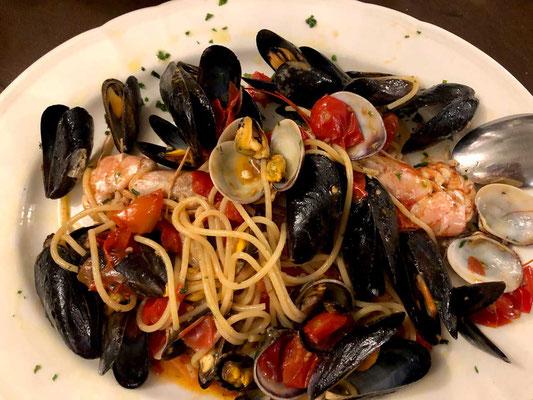 Bigoli mit Meeresfrüchten Trattoria Pontini Venedig