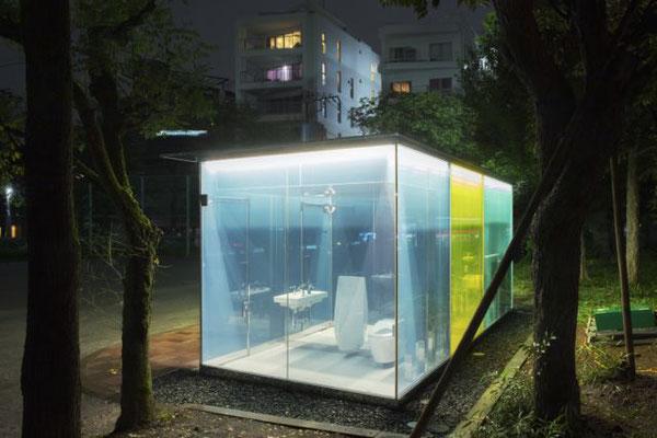 Öffentliche Toilette in Tokio Shibuya entworfen von Architekt Shigeru Ban