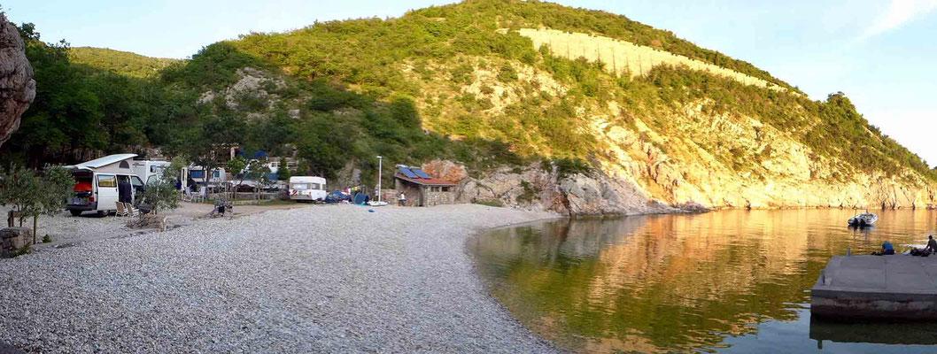Badebucht Mini Campingplatz UJCA bei Senj