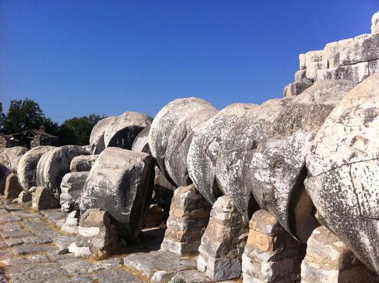 von Tempelanlage Didyma, Türkei Lykische Küste in Didim