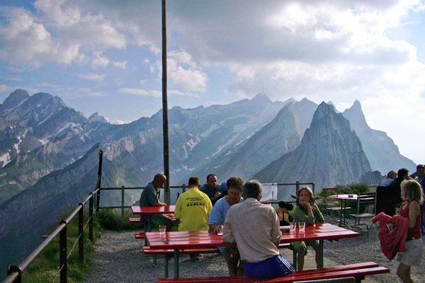 Säntis von der Terrasse Berggasthaus SCHÄFLER, Appenzell