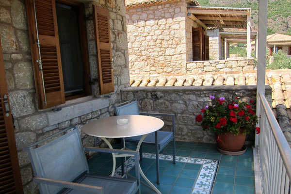 Balkon der Maisonette-Wohnung,  Hotel Elies, Kardamili Mani Peloponnes