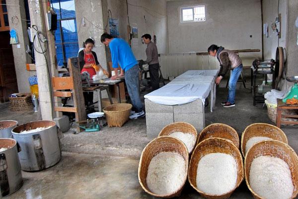 Besuch in der Nudelfabrik in Xizhou
