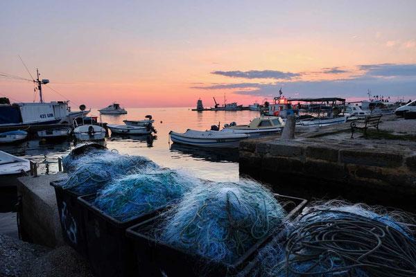 Fischerhafen Porto Salvore am Kap Savudrija, Istrien