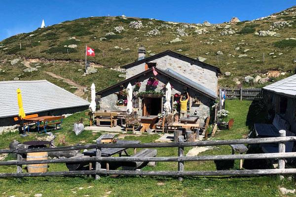 Berghütte am Muottas Muragl über St. Moritz, Oberengadin