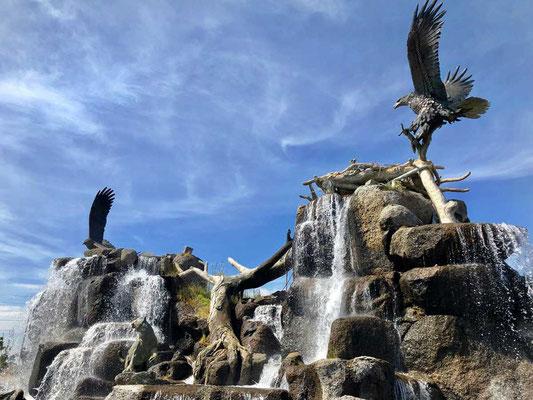 Eindrucksvoll Eagle Rock Brunnen von Idaho Falls