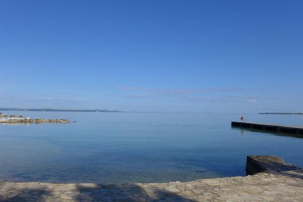 Strand-Anlage beim Autocamp Borek in Zadar