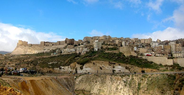 Blick auf Kerak, Jordanien