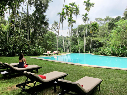 Pool area KANDY HOUSE luxury hotel Sri Lanka