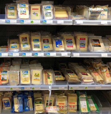 Schweizer Käse Vielfalt
