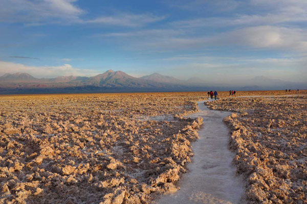 Salar de Atacama zum Sonnenuntergang