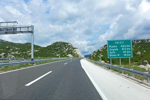 Kroatiens leere Autobahn