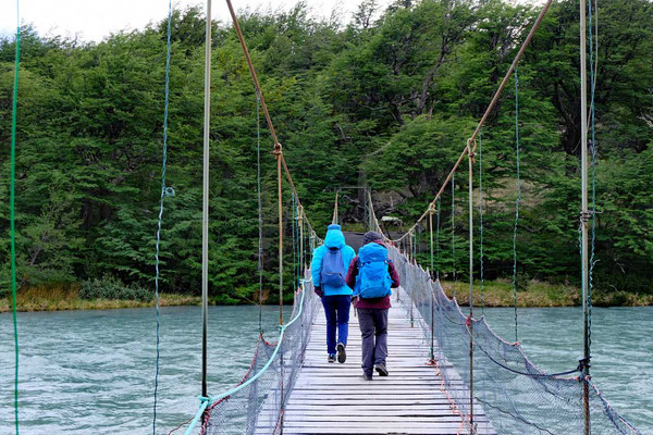 Hängebrücke Pingo River, Lago Grey Mirador