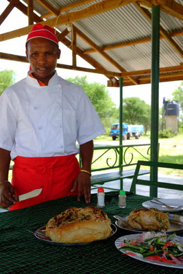 Markus unser Koch auf der Safari Reise