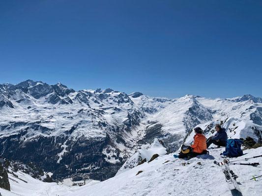 Lagrev Gipfel - Blick ins Val Fex