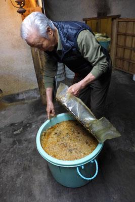 Herr Otas Miso während der Fermentierung, Yuasa Wakayama