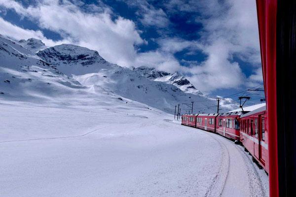 Rhätische Bahn Bernina UNESCO Strecke