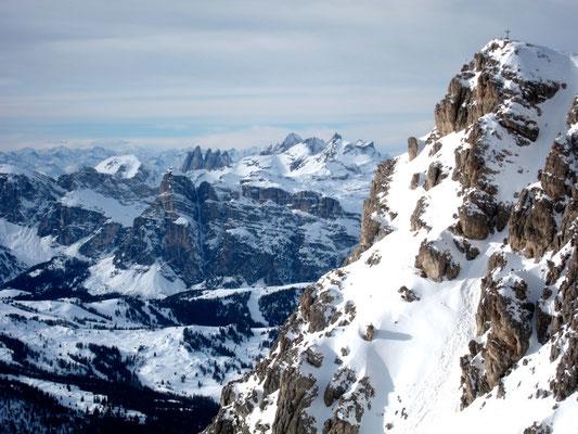Ausblick Rifugio Lagazuoi, Dolomiten Südtirol