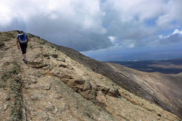 Vor dem Gipfel der Caldera Blanca, Wanderung Lanzarote