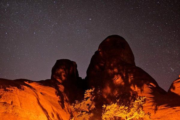 Devils Garden Campground, Sonnenuntergang im Arches National Park