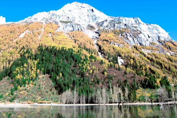 Herbstpracht im Shuangqiao Valley, Mount Siguniang