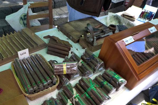 Kanarische Zigarren auf dem Markt in Haria