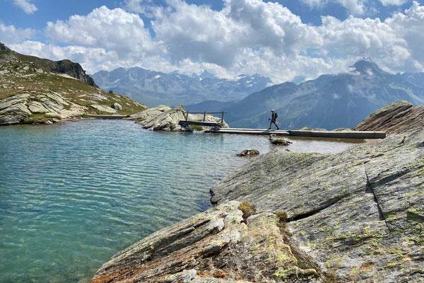 Lägh dal Lunghin Bergsee Wanderung