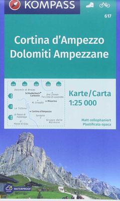 Kompass Karte Cortina d'Ampezzo