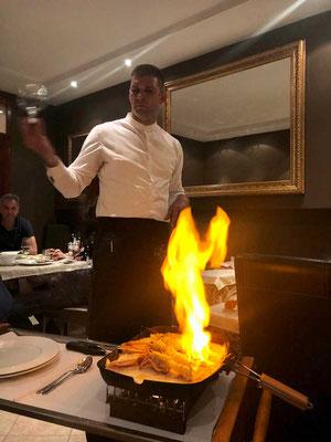 Restaurant Toni Umag flambierte Scampi