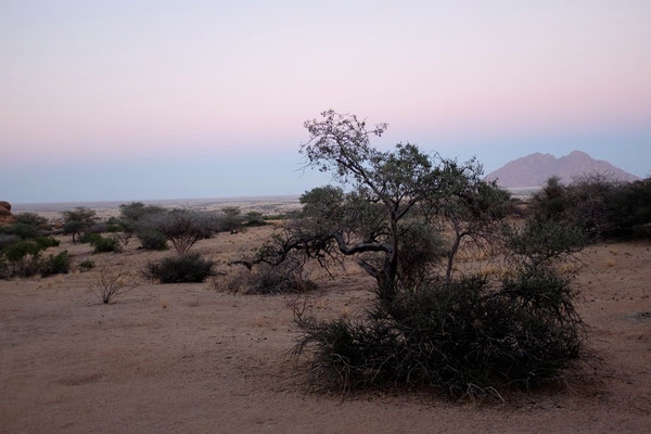 Ausblick Campsite Spitzkoppe Namibia