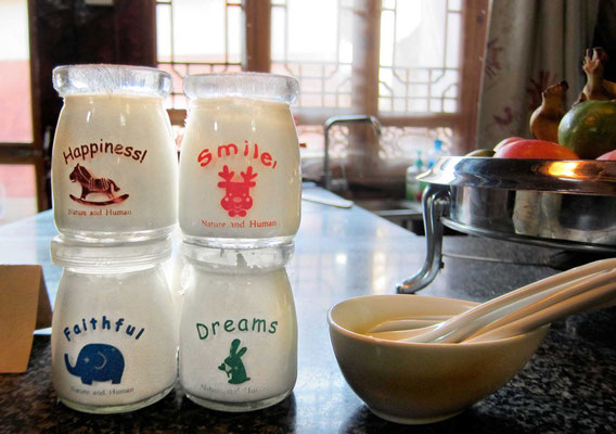 Jeden Morgen selbgemachter Yoghurt