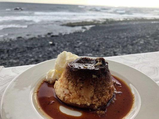 Dessert im Restaurant Costa Azul in El Golfo Lanzarote