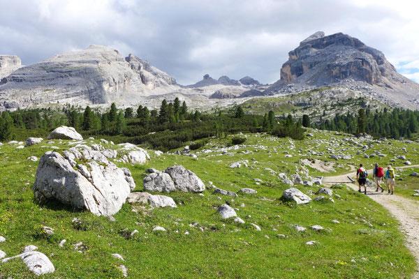Wanderung ab GranFanes Hütte
