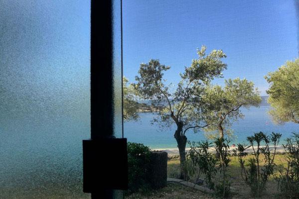 Blick vom WC, Mobilheim Camp Kovacine Cres