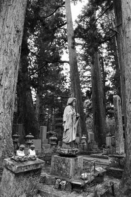 Besuch auf dem japanischen Friedhof Okunoin mit 200.000 Gräbern, Koyasan Japan