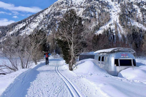 Winter Camping im Morteratsch Engadin