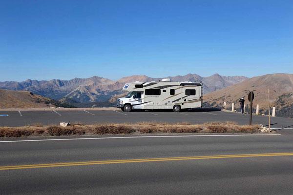 Einer der Parkplätze auf der Trail Ridge Road,  Rocky Mountain NP